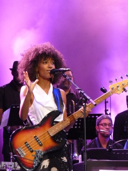 Jazz singer and bassist Esperanza Spalding performing on the North Sea Jazz festival in Rotterdam, The Netherlands; JBreeschoten